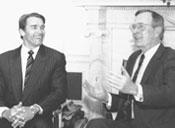 Шварценеггер и Буш-старший