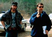 С Киану Ривзом на съемках фильма «Дар» (2000)