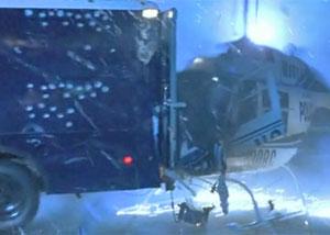 столкновение вертолета с грузовиком
