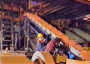 декорации на металлургическом заводе